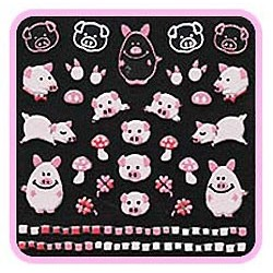 3D Sticker - Pink Piglets CN-10
