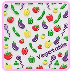 3D Sticker - Purple Garden CN-02
