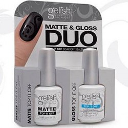 Gelish - Matte Top coat and Gloss Topcoat Duo