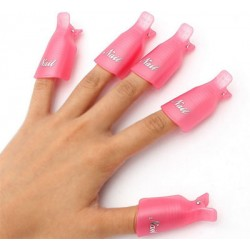 Soak Off Gel Nail Clips set of 10 pcs *2 color