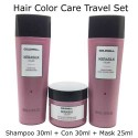 Kerasilk Hair Color Shampoo and conditioner and mask travel set