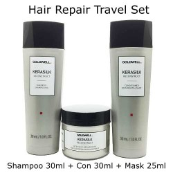 Goldwell Kerasilk Hair Reconstruct Shampoo and Conditioner and Mask Travel Set