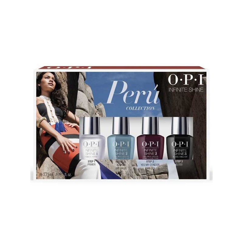 OPI Mini infinite shine Peru 4 Piece nail polish gift set