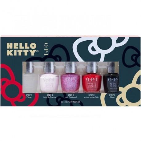 OPI Mini Infinite Shine Nail Polish set - Bare For you ( 5 x 3.75ml)