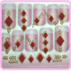 3D Sticker - Gold & Diamonds