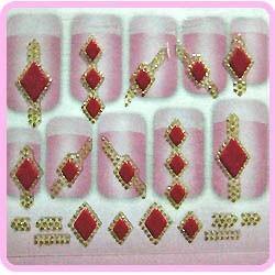 3D Sticker - Gold & Diamonds