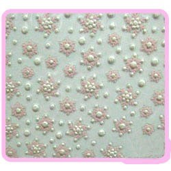 3D Sticker - Frosty Light Pink Flakes